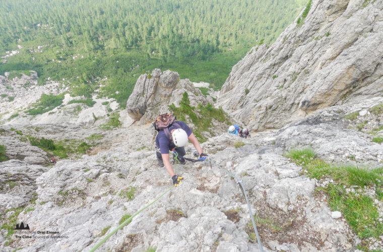 via ferrat Sas de Stria Hexenstein Klettersteig Alpinschule Drei Zinnen-22