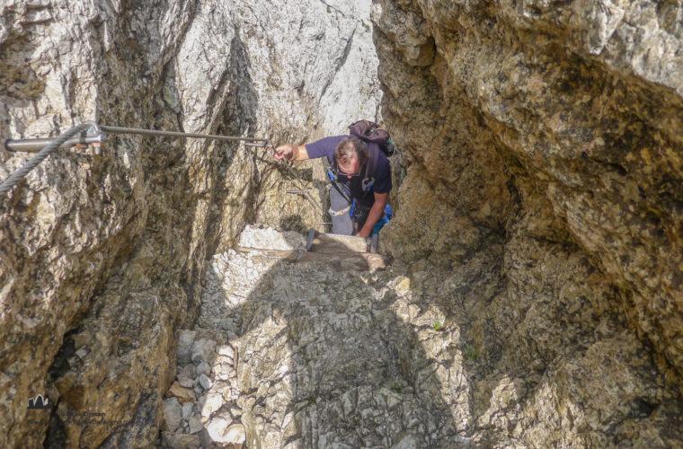 via ferrat Sas de Stria Hexenstein Klettersteig Alpinschule Drei Zinnen-23