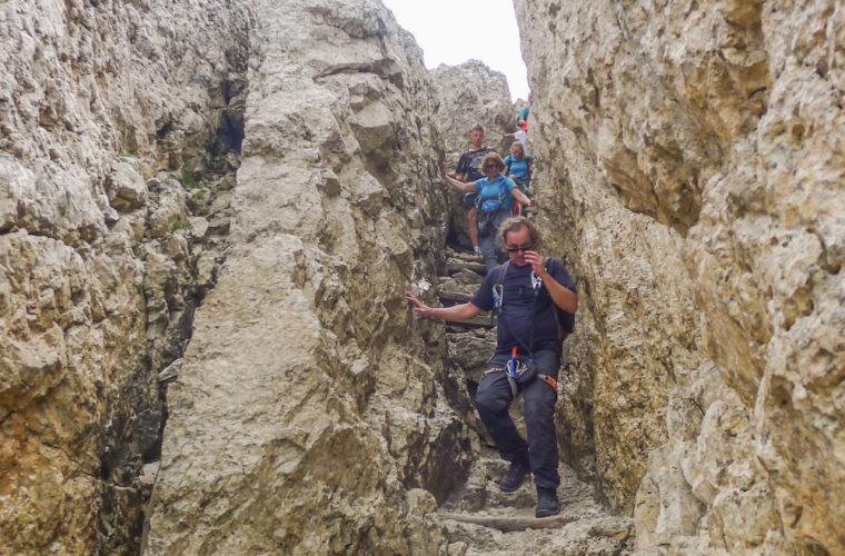 via ferrat Sas de Stria Hexenstein Klettersteig Alpinschule Drei Zinnen-24