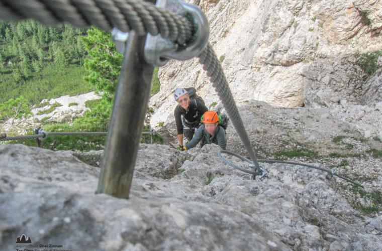 via ferrat Sas de Stria Hexenstein Klettersteig Alpinschule Drei Zinnen-4