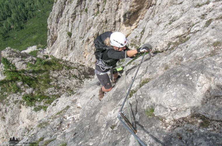 via ferrat Sas de Stria Hexenstein Klettersteig Alpinschule Drei Zinnen-5