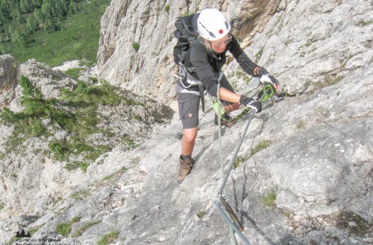 via ferrat Sas de Stria Hexenstein Klettersteig Alpinschule Drei Zinnen-7