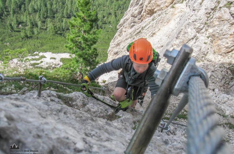 via ferrat Sas de Stria Hexenstein Klettersteig Alpinschule Drei Zinnen-8