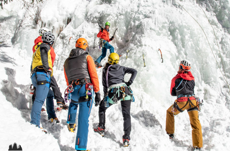 Eisklettern - arrampicata su ghiaccio - ice climbing - Alpinschule Drei Zinnen 2020 (15)