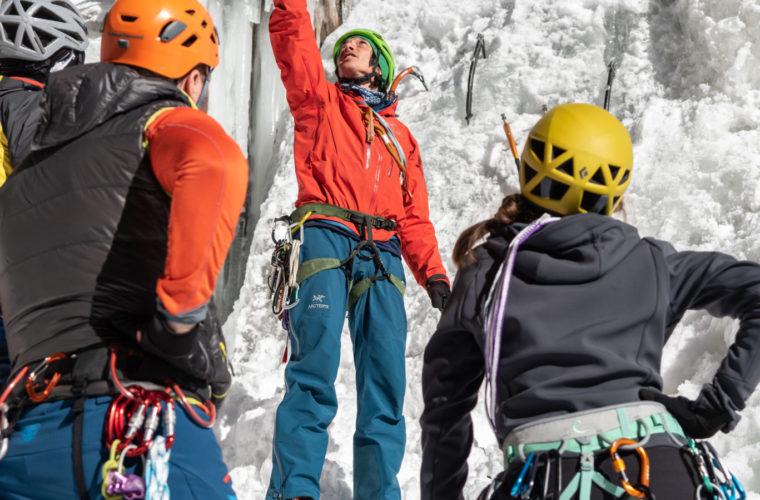 Eisklettern - arrampicata su ghiaccio - ice climbing - Alpinschule Drei Zinnen 2020 (17)