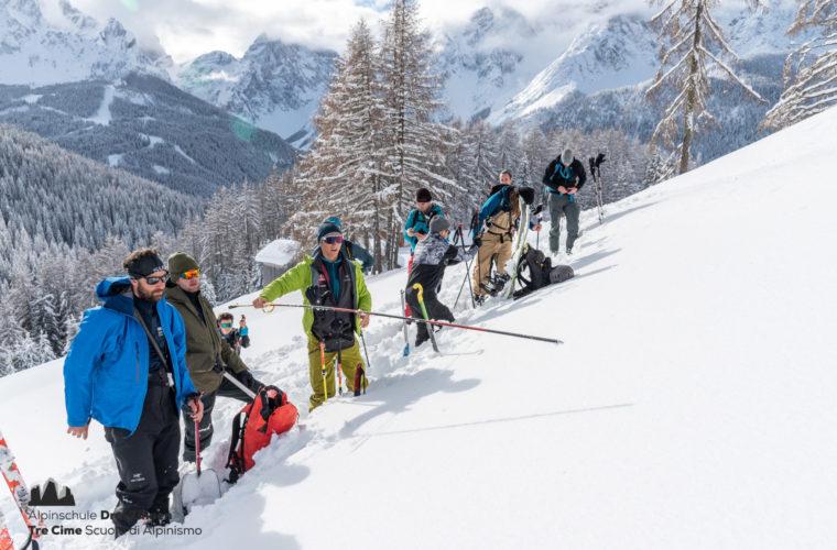 Lawinencoaching - corso valanghe - avalanche training - Alpinschule Drei Zinnen 2020 (17)