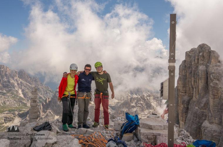 Demuthkante Westliche Zinne - Cima ovest demuth - Alpinschule Drei Zinnen 2020 (5)